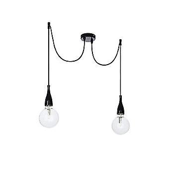 Ideal Lux - pendentif noir Double minimes IDL112671