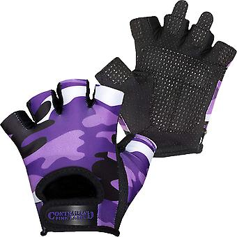 Contraband Sports 5217 Pink Label Camo Weight Lifting Gloves - Purple