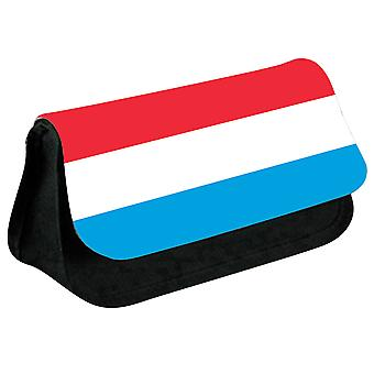 Luxembourg Flag Printed Design Pencil Case for Stationary/Cosmetic - 0101 (Black) by i-Tronixs