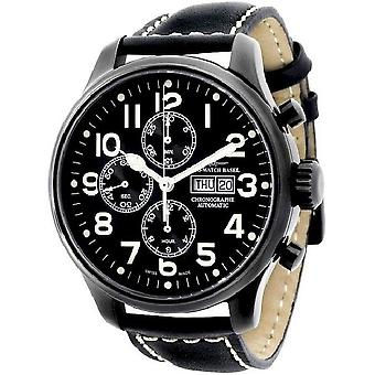 Zeno-watch mens watch OS pilot Chrono black 8557TVDD-bk-a1