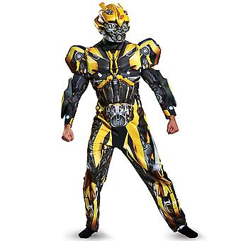 Bumblebee Transformers Deluxe le dernier chevalier Superhero Mens Costume Plus