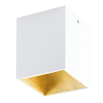 Eglo Polasso Surface Mount Ceiling Downlight In White And Gold