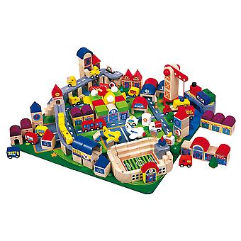 Janod???J06100???Wooden Toy???City Block Complete