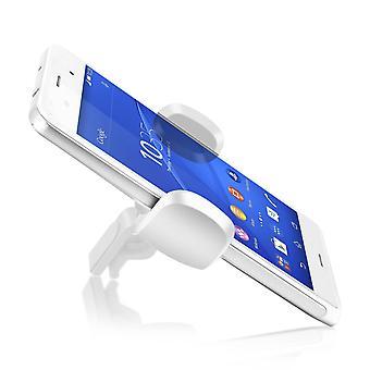 Akashi smartphone suport auto 360 ° rotativ aer aerisire alb