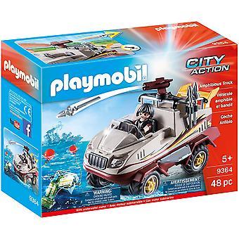 Playmobil 9364 stad actie amfibische vrachtwagen-motor, kanon