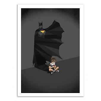 Kunst-poster-Walking Shadow Hero Batman-Jason Ratliff 50 x 70 cm