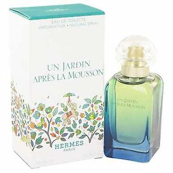 Un Jardin Apres La Mousson by Hermes Eau De Toilette Spray 1.7 Oz (نساء) V728-457279