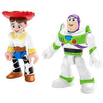 Imaginext Disney Pixar Toy Story Figures - Buzz Lightyear and Jessie