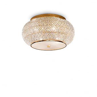 Ideal Lux Pasha 6 Bulb Surface Spotlight Gold