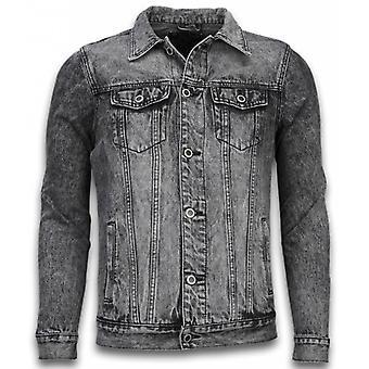 Denim Jacket - Denim Jacket - Stonewashed Look - Grey
