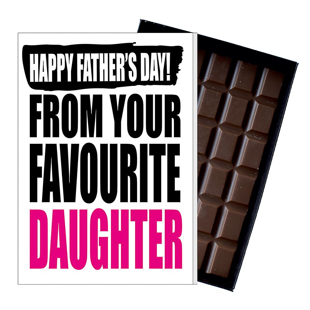 Funny Father's Day Gift From Daughter Chocolate Present Rude Card Dad 137