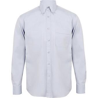 Henbury - Mens Long Sleeve Lightweight Oxford