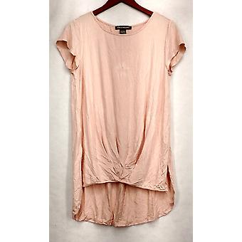 Kate & Mallory Small Short Sleeve Top w/ Pleated Front & Back Pink A433603
