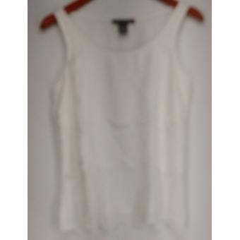 Kate & Mallory Top Tank w/ Scallop Layers White Womens A417046
