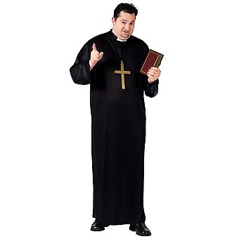 Priest Robe Father Vicar Religious Men Costume Plus