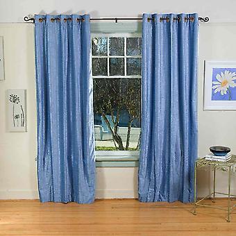 Luz azul anillo ojal superior cortina de terciopelo / cortina / Panel - pieza