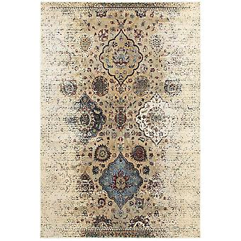 Empire 028w4 ivory/ blue indoor area rug rectangle 6'7