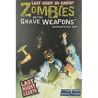 Flygande groda igår kväll på jorden zombies med grav vapen bräd spel