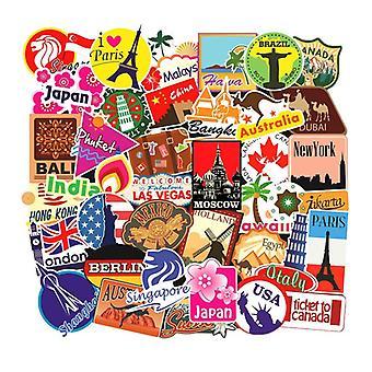 100x Stickers, destinations
