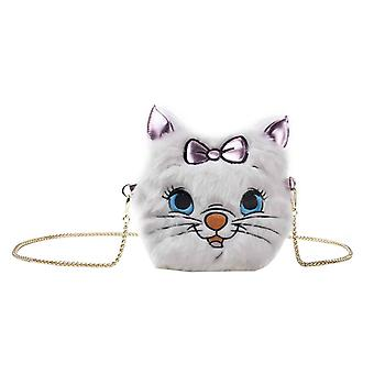 The Aristocats Shoulder Bag Marie Futty Cross new Official Disney Furry White
