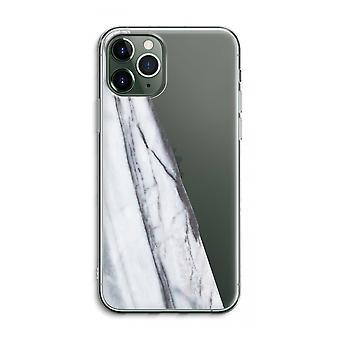 IPhone 11 Pro Max Funda transparente (suave) - Mármol a rayas