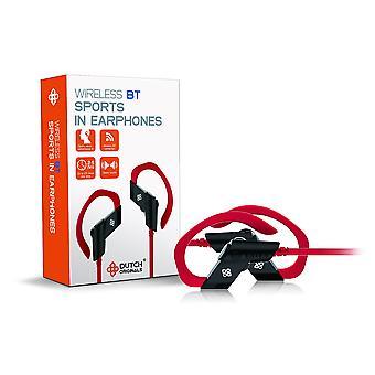DUTCH ORIGINALS Casques Bluetooth Dans l'oreille sans fil, Dans le casque d'oreille Sport avec microphone et poignée, écouteurs sans fil pour téléphone Iphone Samsung, noir
