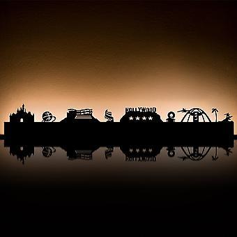 RADIUS lys Los Angeles te lys indehaveren sort 80 x 18 x 5 - 711r1