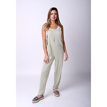 Mabel jersey jumpsuit in green