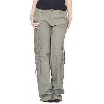 Lightweight wide leg combat trousers
