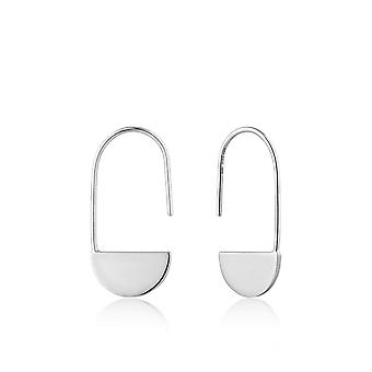 Ania Haie Silver Rhodium Plated Geometry Drop Earrings E005-07H