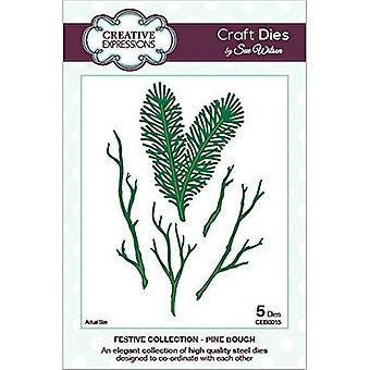 Creative Expressions Festive Collection Holly Sprays by Sue Wilson CED3013