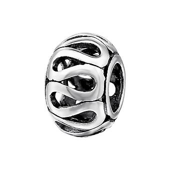 Runde - 925 Sterling Silber Plain Beads - W4393X