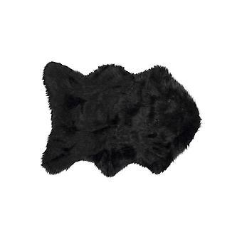"24"" x 36"" x 1.5"" Black Sheepskin FAUX FUR Single - Area Rug"
