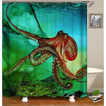 Wild Octopus douche gordijn