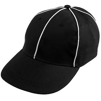 Official Referee Hat | Adjustable Black with White Stripes