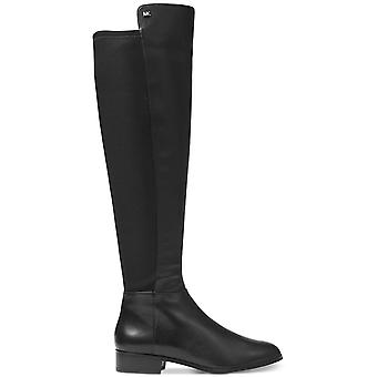 مايكل كورز بروملي النسائي الجلود اللوز أخمص القدمين الركبة عالية ركوب الخيل أحذية
