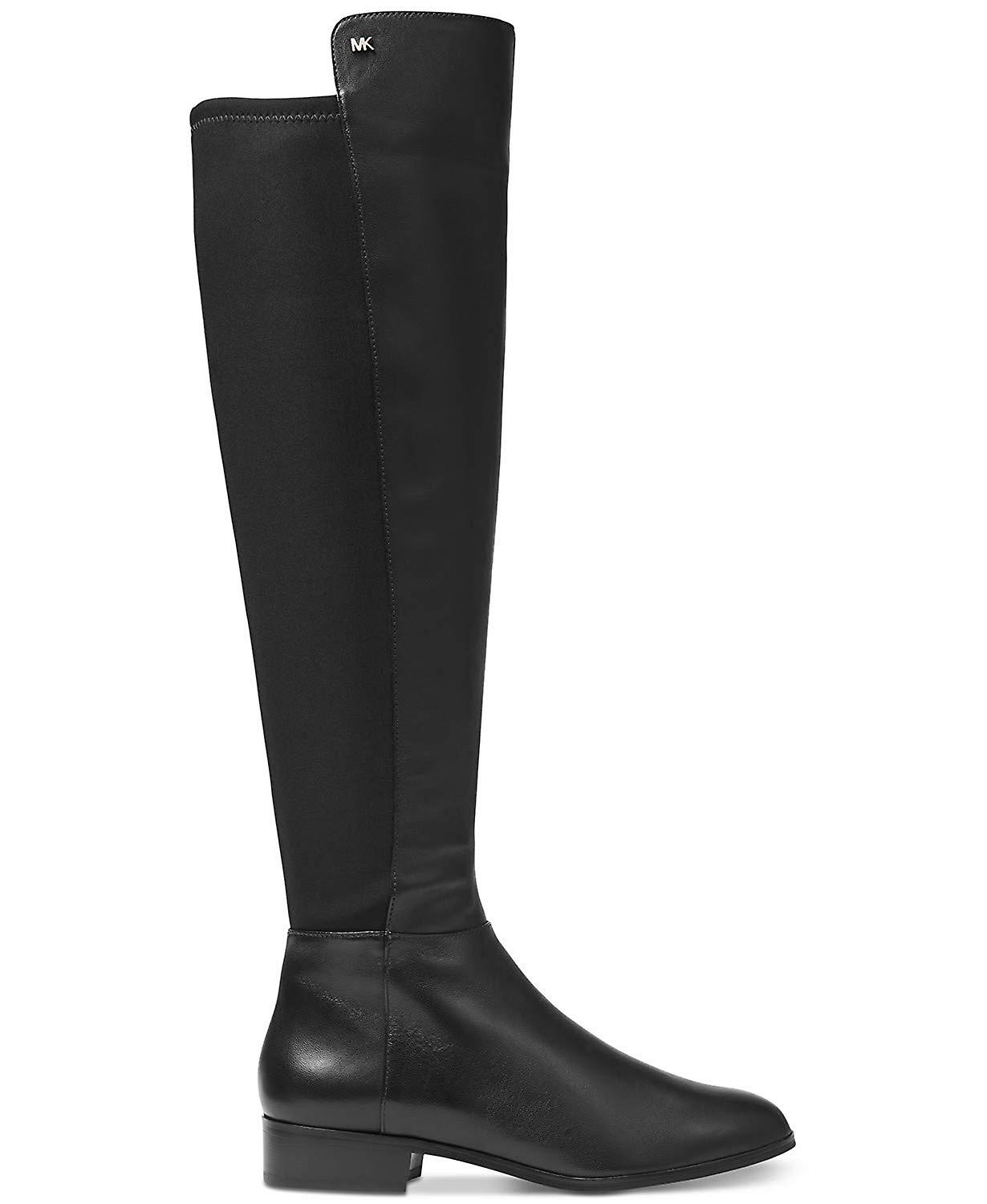 Michael Kors Womens Bromley Leather Almond Toe Knee High Riding Boots