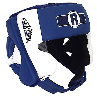 Ringside Elite Amateur Flex Panel Competition Boxing Headgear - Blue/White