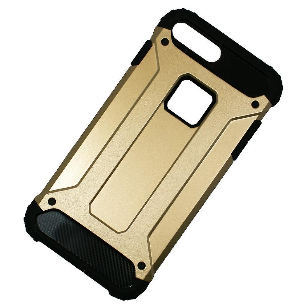 Coque Antichoc Iphone 8 Plus/7 Plus Bi-matière Noire Et Dorée - Crazy Kase