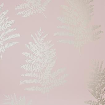 Metallic Fern Wallpaper Blush Arthouse 687000