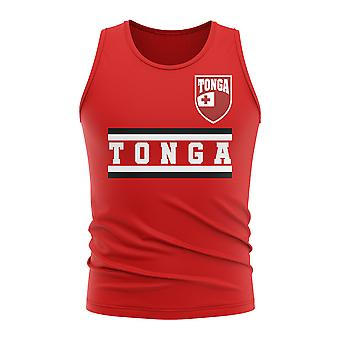 Tonga Core Fußball Land ärmelloses T-Shirt (rot)
