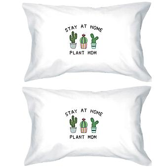 Stay At Home Plant Mom Pillowcases Standard Size Pillow Covers Gift