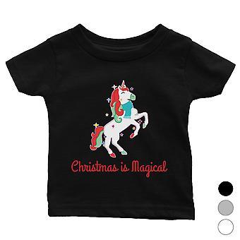 Christmas Magical Unicorn Cool Baby Shirt Holiday Gift