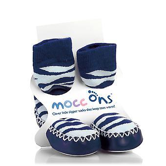 MoccOns - Mokassin Stil Slipper Socken! - 6-12m