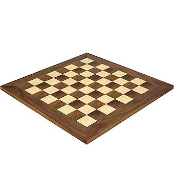 17.75 Inch Walnut and Maple Deluxe Chess Board