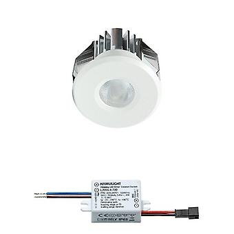 CREE LED recessed Spotlight Gran | Branco | Branco morno | 3 watts | Regulável