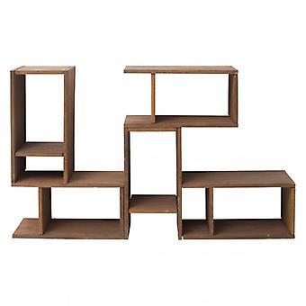 REBECCA möbler bok hylla skåp trä Brown modern stil vardags rum kontor