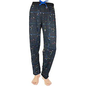 Pac-man Classic Action Men's Black Cuffed Lounge Pants