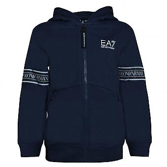 EA7 Boys Emporio Armani Boy's Navy Blue Zip Up Sweat Top