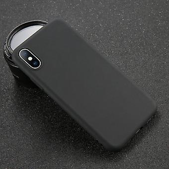 USLION iPhone 6S Ultraslim Silikonikotelo TPU-kotelon kansi musta